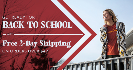 Get Ready for Back to School with Free 2-Day Shipping on Orders Over $49