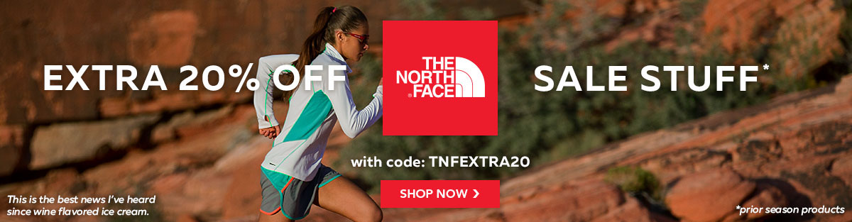 Get an Extra 20% Off The North Face Sale Stuff with code TNFEXTRA20