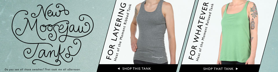 New Moosejaw Tank Tops for the Ladies