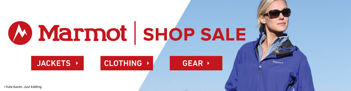 Marmot clothing, jackets and gear on sale