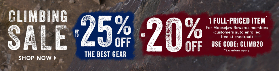Moosejaw Climbing Sale - Up to 25% Off Climbing Gear