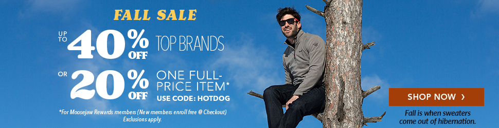 Moosejaw Fall Sale - Get 40% Off Almost Everything