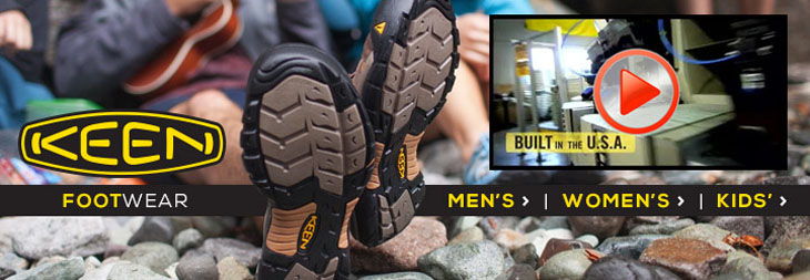 Keen shoes, sandals and boots at Moosejaw