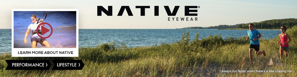 Native performance and lifestyle sunglasses at Moosejaw