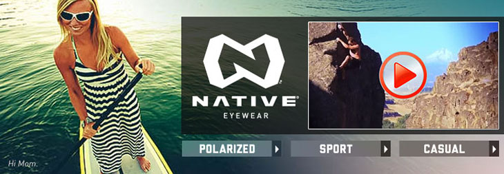 Native polarized, sport and casual sunglasses. And a video.