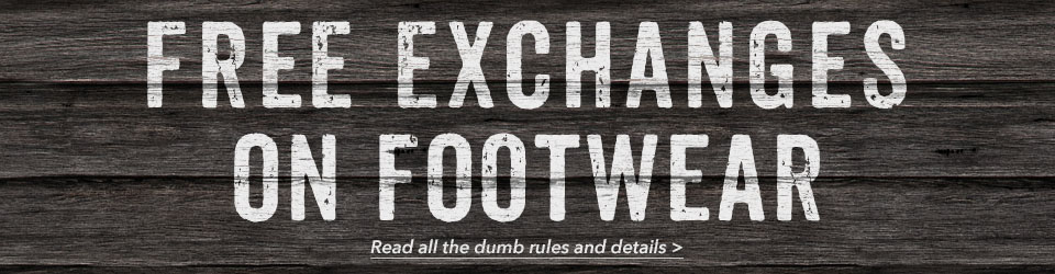 Moosejaw offers free exchanges on most footwear