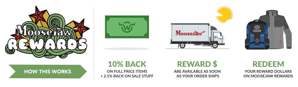 Here's how you earn yourself some Moosejaw Reward Dollars