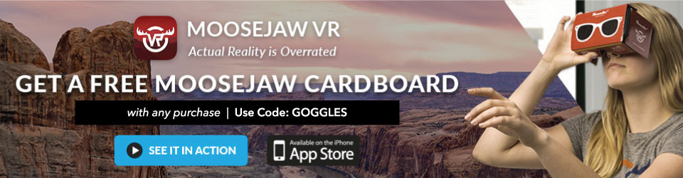 Get Free Moosejaw VR Cardboard with any purchase