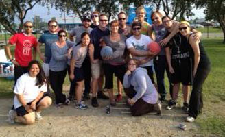 The Moosejaw kickball team.