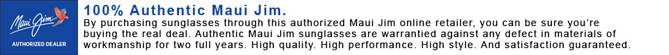 Moosejaw is an authorized dealer of Maui Jim sunglasses