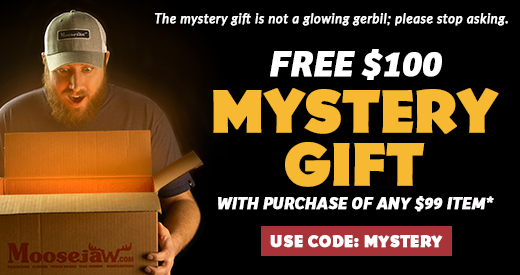 Free Moosejaw Mystery Gift with Items Over $99 and Code MYSTERY