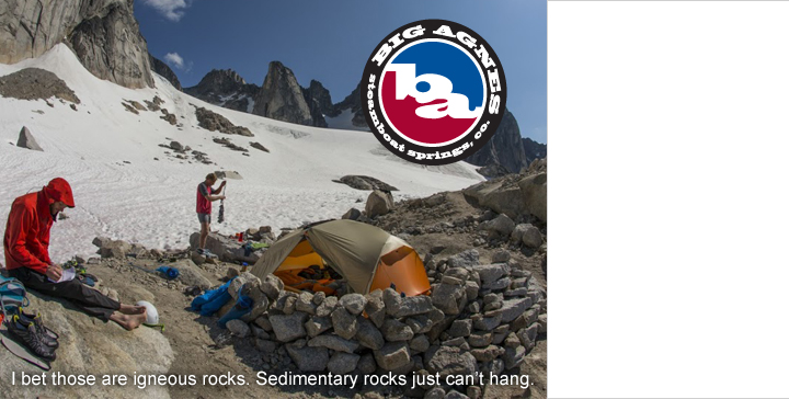 Big Agnes tents, sleeping bags and sleeping pads