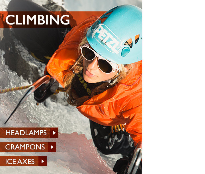 Climbing Gear, Shoes and Clothing