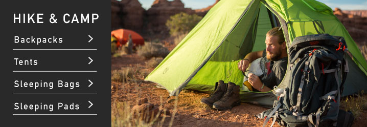 Hiking and camping gear at Moosejaw