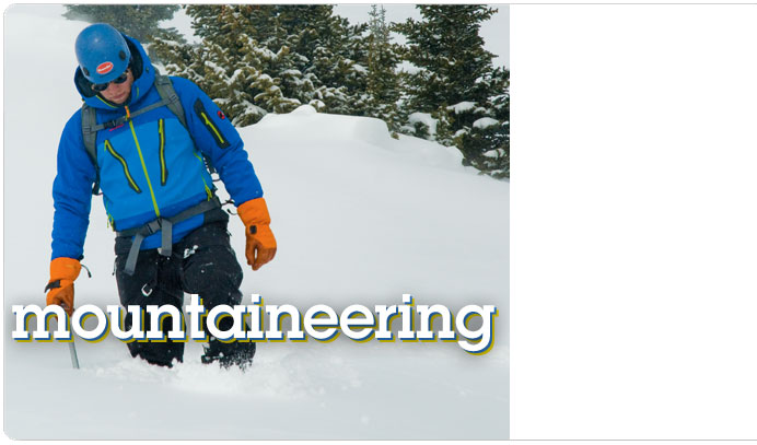 Mountaineering gear at Moosejaw.com
