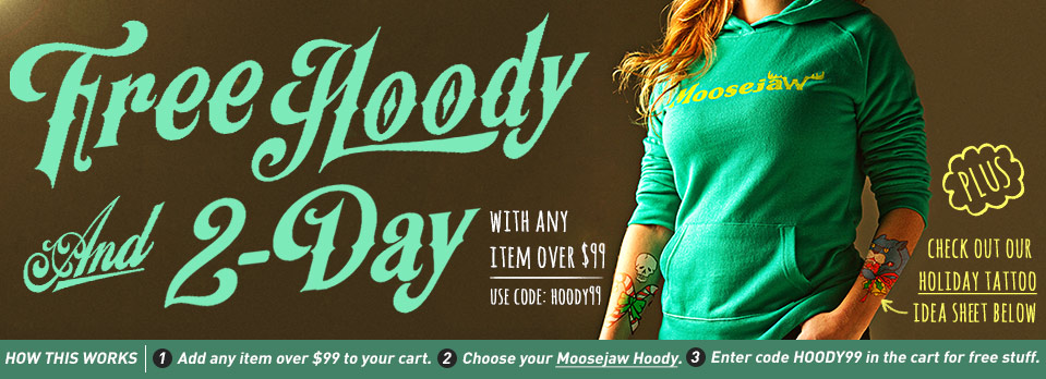 Get a FREE Moosejaw Hoody with Any Item Over $99