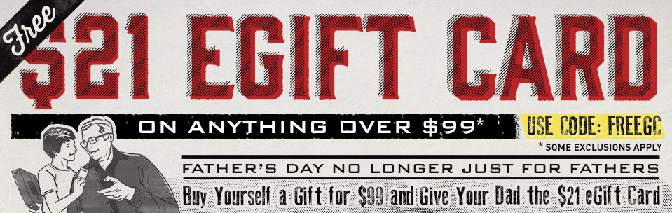 Free $21 eGift Card with anything over $99