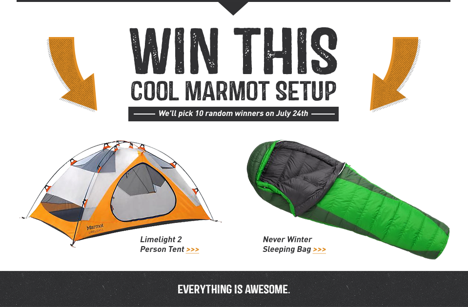 Sign Up To Win Marmot Stuff